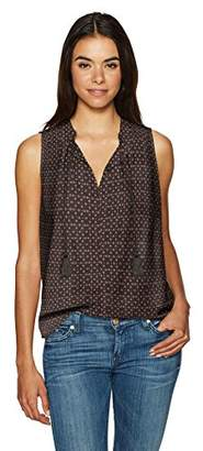 NYDJ Women's Cotton Silk Pleated Top