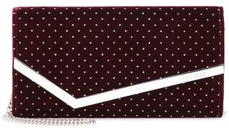 Jimmy Choo Emmie glittered velvet clutch