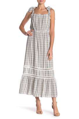 Vince Camuto Tie Strap Stripe Midi Dress