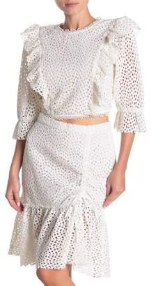 Tabitha Walter Baker Crochet Lace Crop Blouse