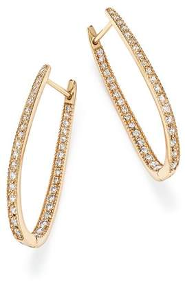 Bloomingdale's Diamond Inside Out Oval Hoop Earrings in 14K Yellow Gold, 1.50 ct. t.w. - 100% Exclusive