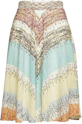Missoni Knit Midi Skirt in Silk