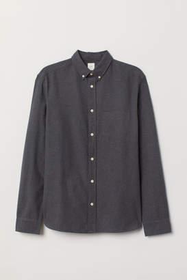 H&M Regular Fit Oxford Shirt - Gray