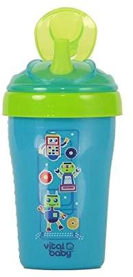 Vital Baby Toddler Straw Cup, Blue