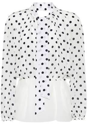 Balenciaga Polka dot silk blouse