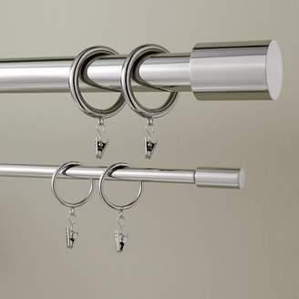 west elm Round Metal Curtain Rings (Set Of 7) - Polished Nickel
