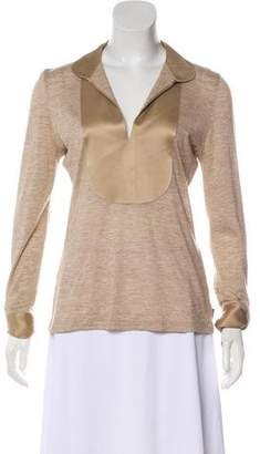Akris Cashmere and Silk-Blend Collared T-Shirt