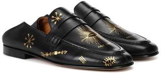 Isabel Marant Fezzy printed leather loafers