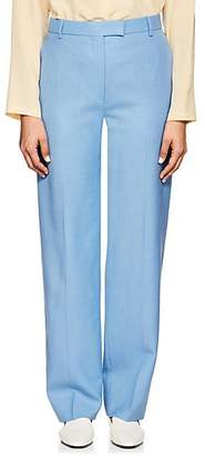 The Row Women's Lada Wool Suiting Canvas Trousers - French Blue