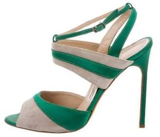Manolo Blahnik Bi-Color Slingback Sandals