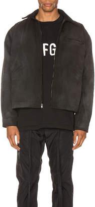 Fear Of God Canvas Work Jacket in Black & Vintage Black | FWRD