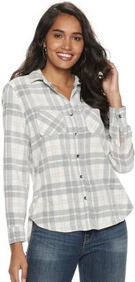 Rock & Republic Women's Drapey Roll Cuff Shirt