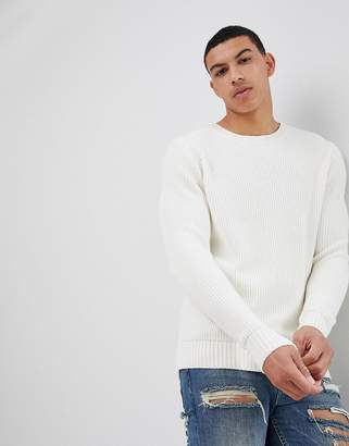Knitted Jumper In White
