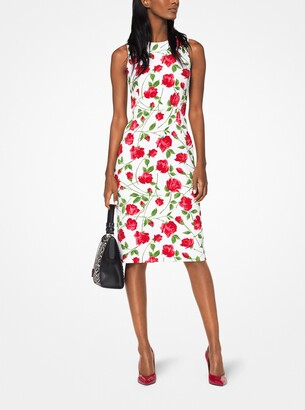 Michael Kors Rose Stretch-Cady Sheath Dress