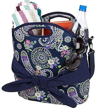 Fit & Fresh Maui Insulated Beach Bag Tote (Navy Summer Paisley) 1601FF470