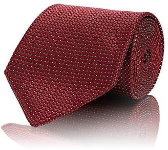 Ermenegildo Zegna Men's Micro-Square-Print Silk Jacquard Necktie