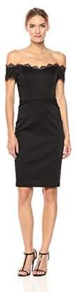 Badgley Mischka Women's Off Shoulder Lace Dress