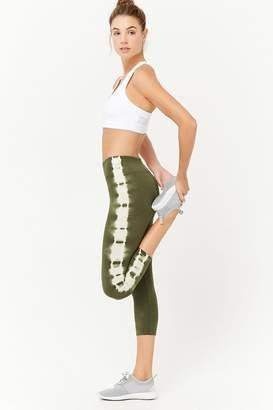 Forever 21 Active Tie-Dye Capri Leggings