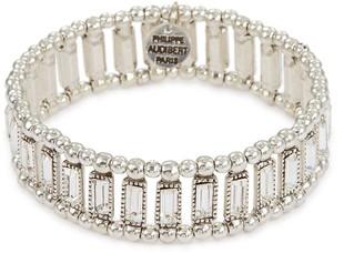 Philippe Audibert 'Titia' Swarovski crystal bead elastic bracelet