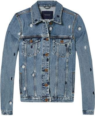 Scotch & Soda Embroidered Trucker Jacket