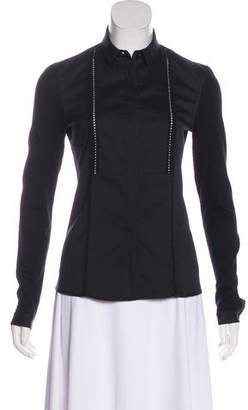 Celine D-Ring Belted Button-Up Blouse