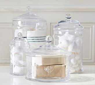 Pottery Barn Large Glass Canister