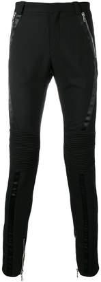 Balmain skinny biker trousers