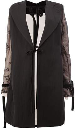 Ann Demeulemeester coat with lace detailed sleeves