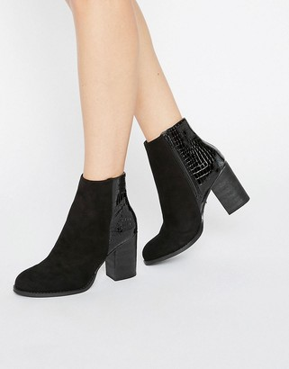 Oasis Maddie Snake Patched Boot $68 thestylecure.com