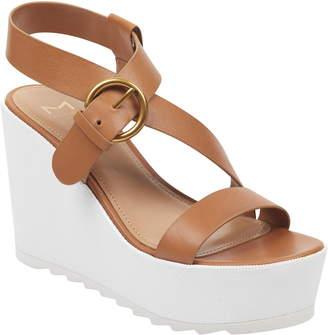 3479137db Marc Fisher Brown Platform Wedge Women s Sandals - ShopStyle