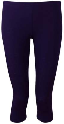 Chocolate Pickle Womens Short Stretchy 3/4 Plain Viscose Cropped Leggings