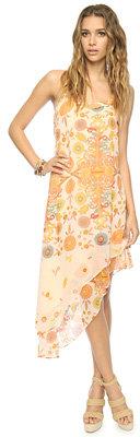 Love 21 Paisley Asymmetrical Hem Dress