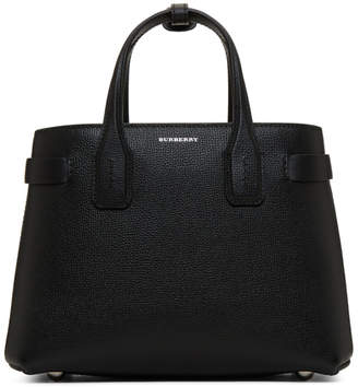 Burberry Black Small Banner Structured Tote