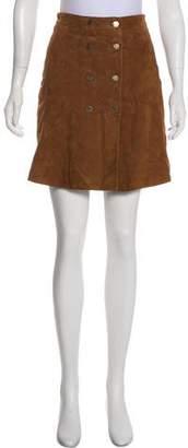 AllSaints Suede Mini Skirt