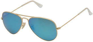 Ray-Ban Sunglasses - Rb3025 Aviator Large Metal /Frame: Matte Gold Lens: Crystal Green Blue Mirror(58Mm)
