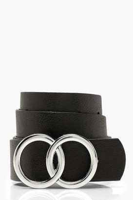boohoo Double Buckle Boyfriend Belt