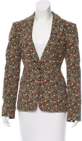 See By ChloeSee by Chloé Floral Print Corduroy Blazer