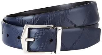 Burberry Reversible Check Embossed Belt