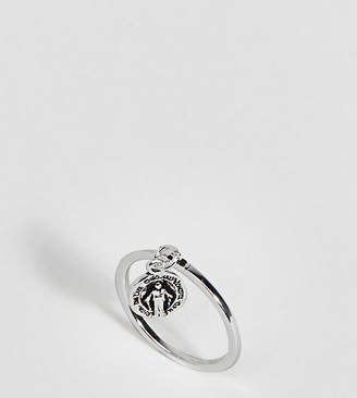 Asos (エイソス) - ASOS DESIGN Sterling Silver Vintage Style Icon Charm Ring