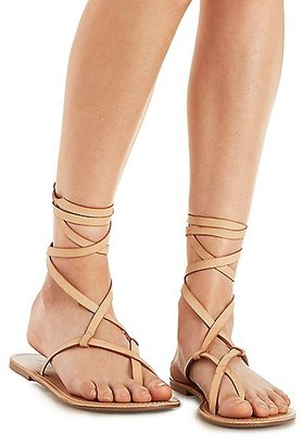 Lace-Up Toe Loop Sandals $3.99 thestylecure.com