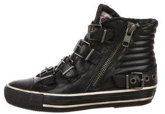 Ash Leather High-Top Sneakers