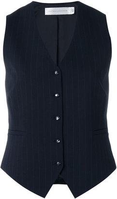 Victoria Beckham pin-stripe waistcoat $831.22 thestylecure.com