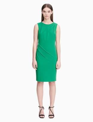 Calvin Klein seamed sheath dress