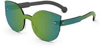 RetroSuperFuture Super by Tuttolente Lucia Cat-Eye Iridescent Sunglasses, Blue/Green