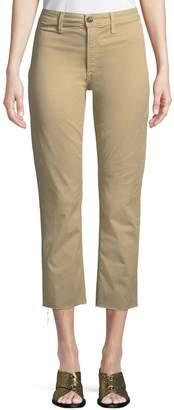Joe's Jeans The Jane High-Rise Straight-Leg Crop Jeans w/ Raw Hem