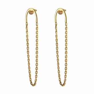 Irena Chmura Jewellery Stormy Diamond Arc & Chain Earrings