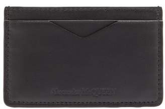 Alexander McQueen Rib Cage Embossed Leather Card Holder - Mens - Black
