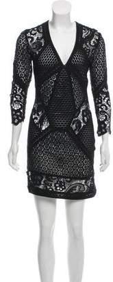 IRO Sheer Lace Mini Dress