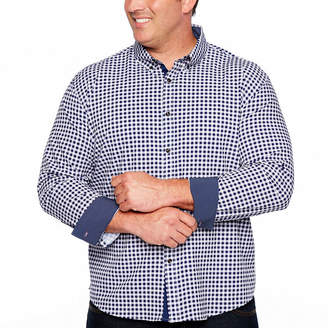 SOCIETY OF THREADS Society Of Threads Long Sleeve Gingham Button-Front Shirt-Big and Tall