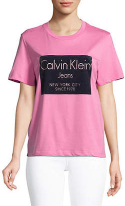 Calvin Klein Jeans Flocking Logo T-Shirt